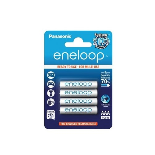 Panasonic Eneloop AAA Micro 800 maH Ready to Use Blister 4