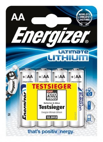 Energizer Ultimate Lithium L91 AA Mignon 4er Blister