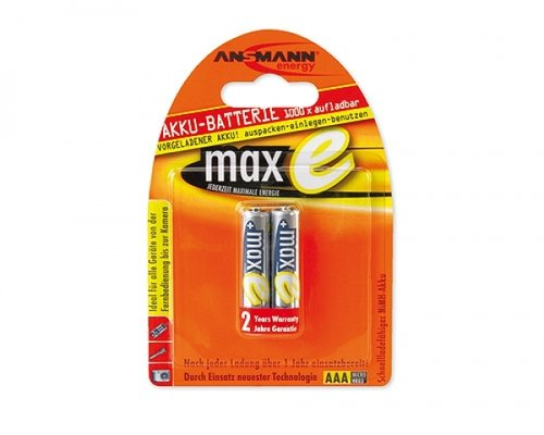 Ansmann maxe NiMH AAA 800 mAh ready to use 2er Blister
