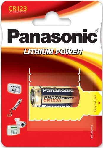 Panasonic Photo Power CR123 Lithium 1er Blister