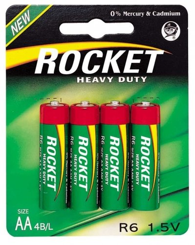 ROCKET Heavy Duty Green R6 AA Mignon 4er Blister
