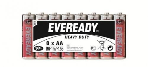Eveready Super R6 1215 AA Mignon 8er Folienpack