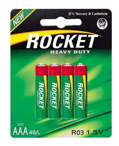 ROCKET Heavy Duty Green R03 AAA Micro 4er Blister