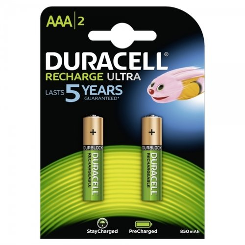 Duracell Recharge Ultra AAA Akku Ready to Use 850 mAh Blister 2