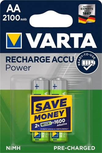 Varta AA Recharge Accu Ready to Use 2100 mAH Blister 2