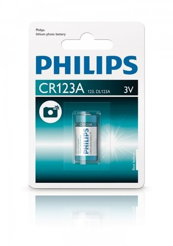 Philips Extremelife Life Photo - Lithium CR123 3Volt - 1er Blist