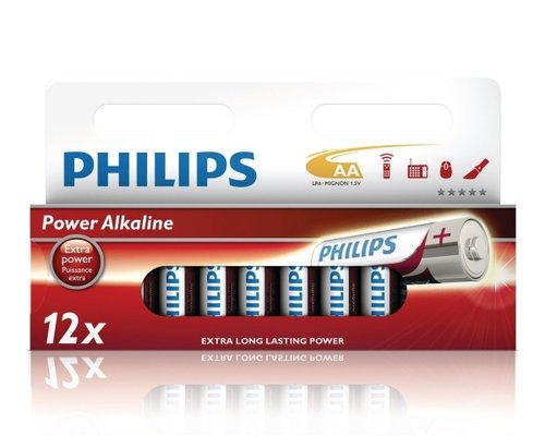 Philips Powerlife Alkaline LR6-AA-Mignon 12er Wide-Blister