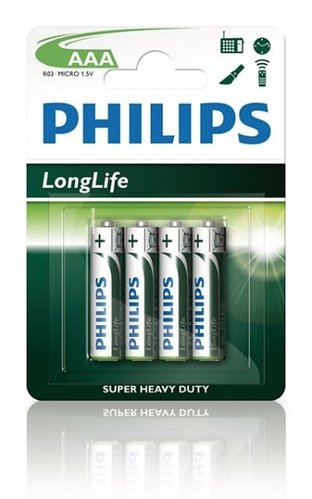 Philips LongLife R03-AAA-Micro - 4er Blister