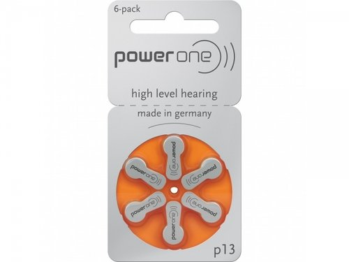 Powerone High Level Hörgerätebatterie P13 6er Blister