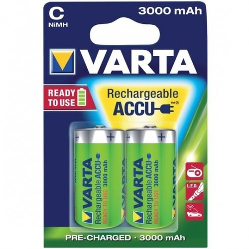 Varta Accu Rechargeable HR 14-C-Baby 3000 mAH Blister 2